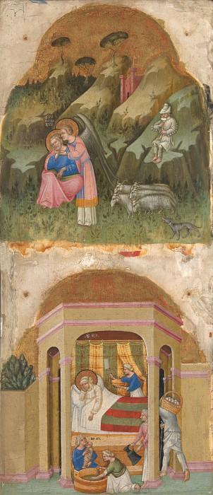 Далматинский мастер, 1375-1400 - Святой Иоаким и ангел Рождество Девы Марии. Часть 2 Национальная галерея