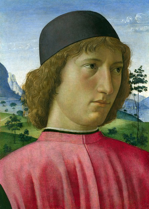 Domenico Ghirlandaio - Portrait of a Young Man in Red. Part 2 National Gallery UK
