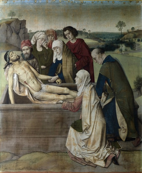 Dirk Bouts - The Entombment. Part 2 National Gallery UK