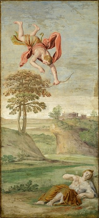 Domenichino and assistants - Apollo slaying Coronis. Part 2 National Gallery UK