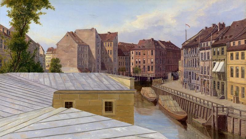 Eduard Gaertner - The Friedrichs- gracht, Berlin. Part 2 National Gallery UK