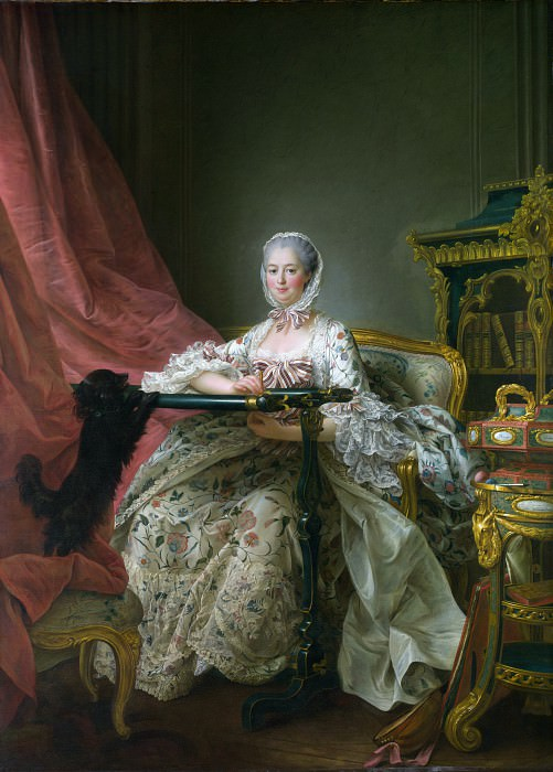 Francois-Hubert Drouais - Madame de Pompadour at her Tambour Frame. Part 2 National Gallery UK