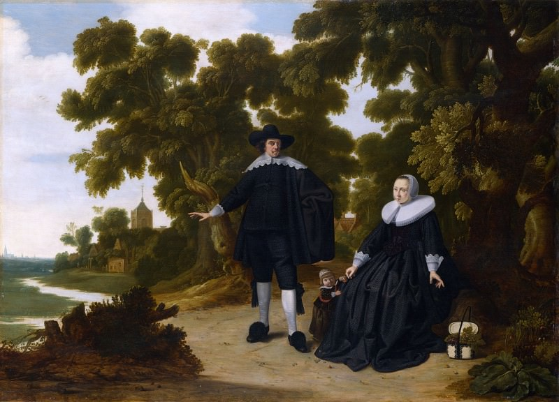 G. Donck - Portrait of Jan van Hensbeeck, his Wife and a Child. Part 2 National Gallery UK