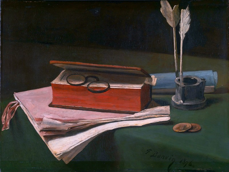 Francois Bonvin - Still Life with Book, Papers and Inkwell. Part 2 National Gallery UK
