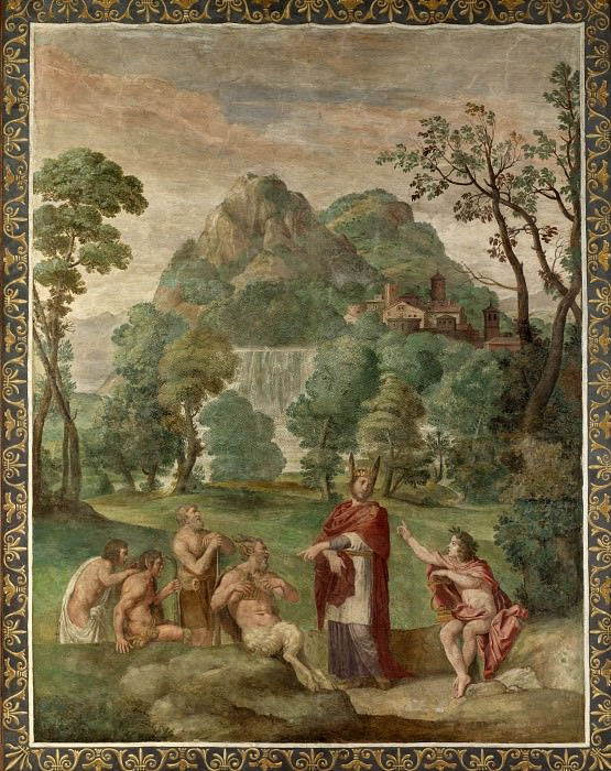 Domenichino and assistants - The Judgement of Midas. Part 2 National Gallery UK