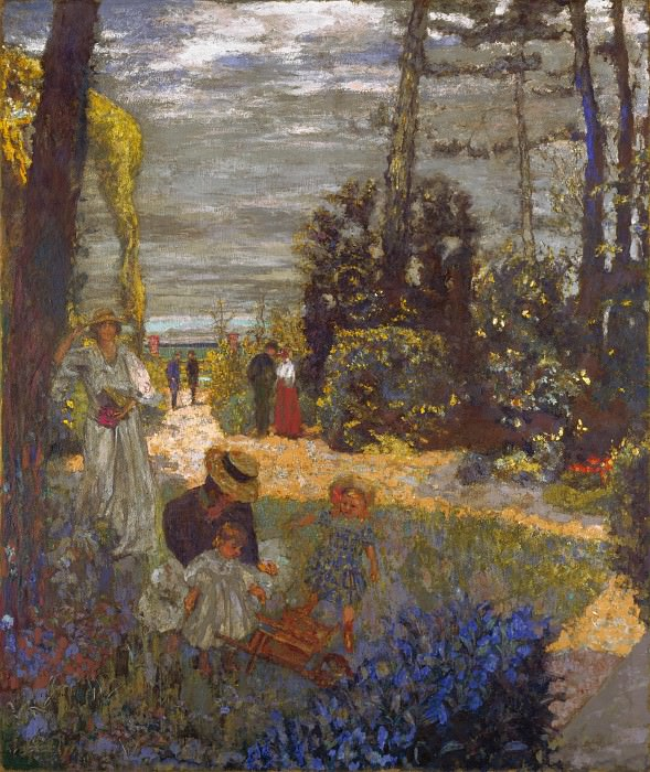 Edouard Vuillard - The Terrace at Vasouy, the Garden. Part 2 National Gallery UK