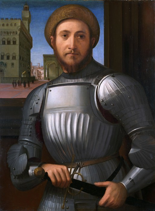 Francesco Granacci - Portrait of a Man in Armour. Part 2 National Gallery UK