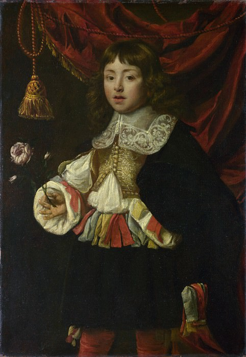Flemish - Portrait of a Boy holding a Rose. Part 2 National Gallery UK