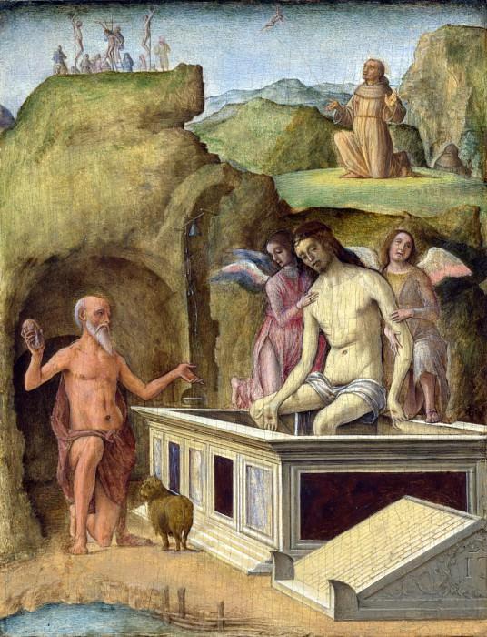 Ercole de Roberti - The Dead Christ. Part 2 National Gallery UK