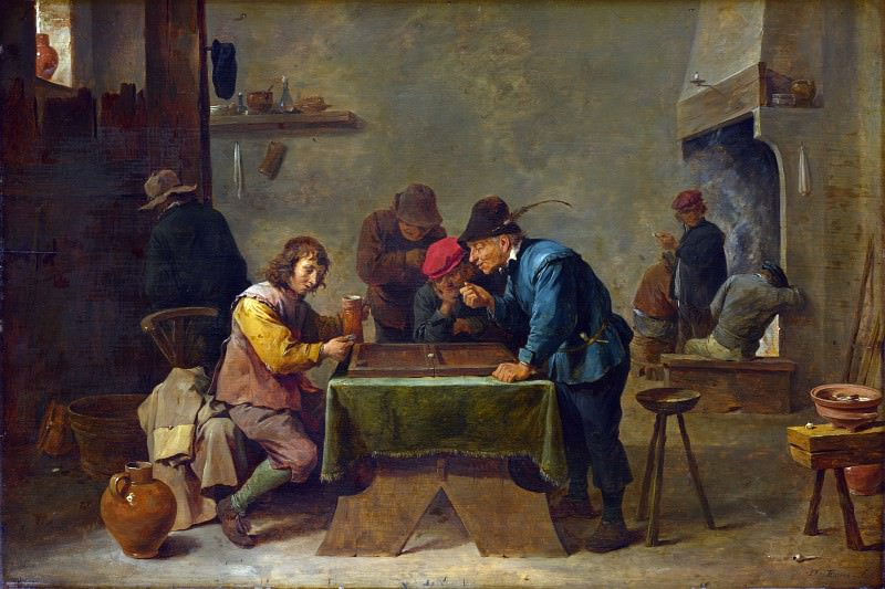 David Teniers the Younger - Backgammon Players. Part 2 National Gallery UK