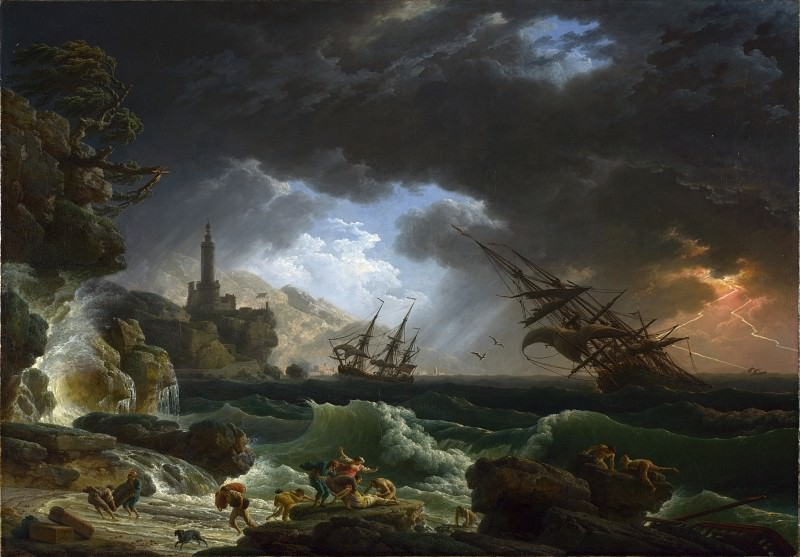 Claude-Joseph Vernet - A Shipwreck in Stormy Seas. Part 2 National Gallery UK
