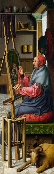 Follower of Quinten Massys - Saint Luke painting the Virgin and Child. Part 2 National Gallery UK