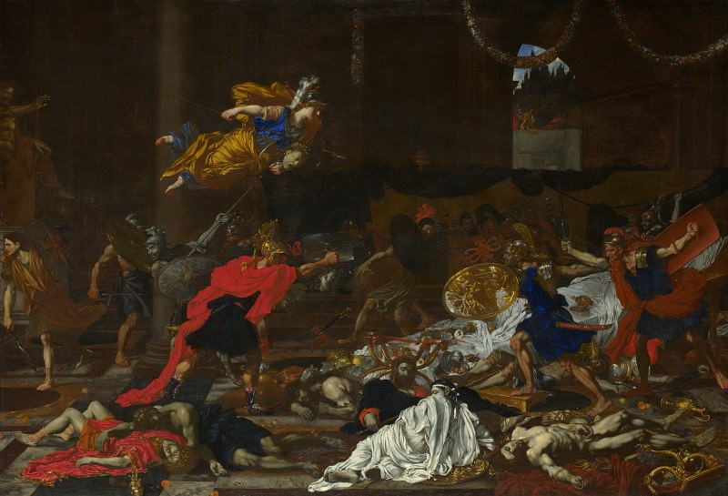 French or Flemish - Perseus turning the Followers of Phineus into Stone. Part 2 National Gallery UK
