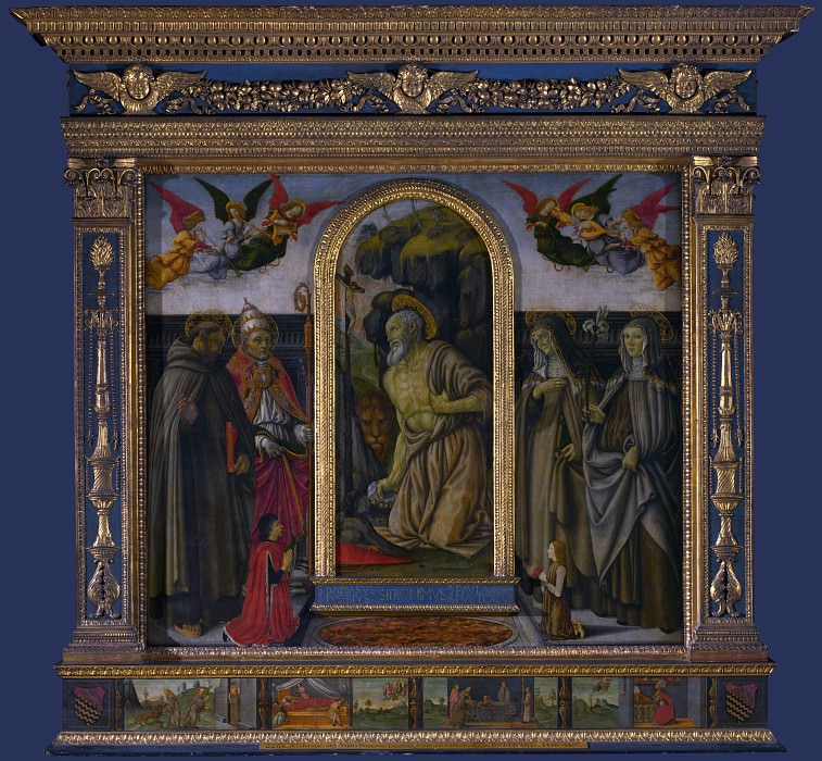 Francesco Botticini - S. Gerolamo Altarpiece. Part 2 National Gallery UK