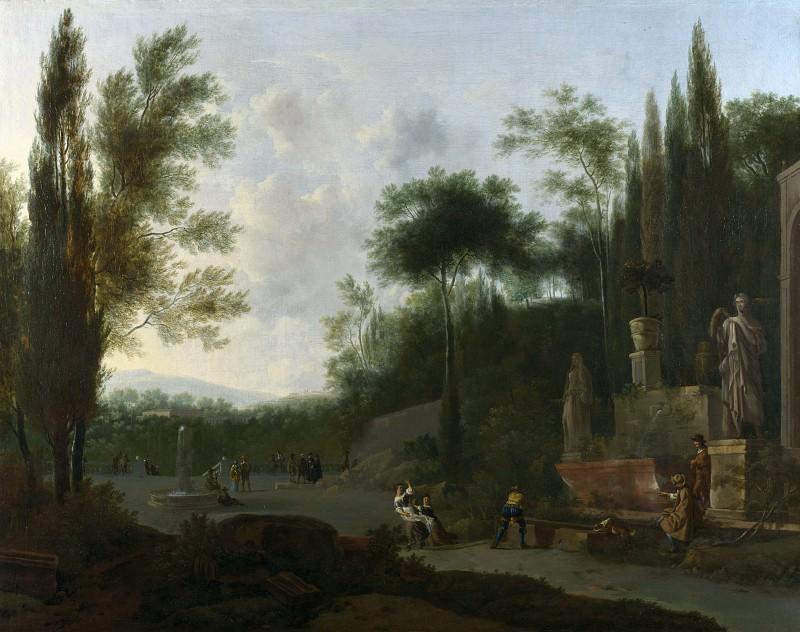 Frederick de Moucheron - Figures in an Italian Garden. Part 2 National Gallery UK