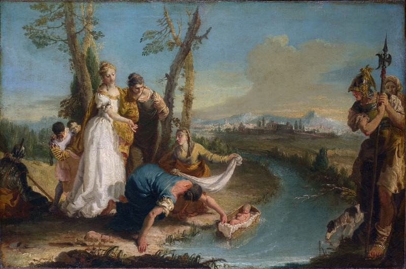 Francesco Zugno - The Finding of Moses. Part 2 National Gallery UK