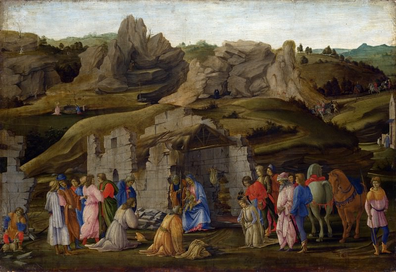 Filippino Lippi - The Adoration of the Kings. Part 2 National Gallery UK