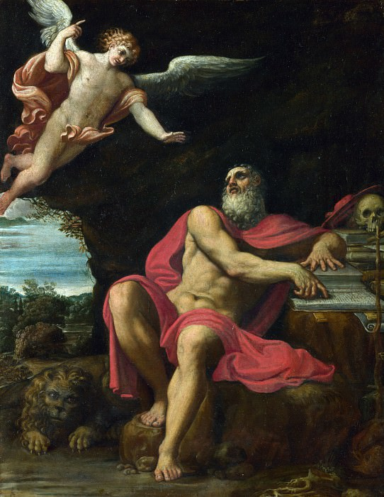 Domenichino - The Vision of Saint Jerome. Part 2 National Gallery UK