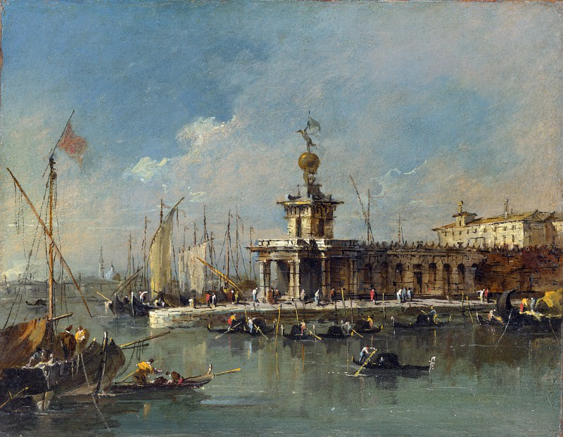 Francesco Guardi - Venice - The Punta della Dogana. Part 2 National Gallery UK