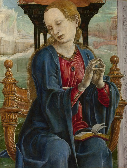 Cosimo Tura - The Virgin Annunciate. Part 2 National Gallery UK