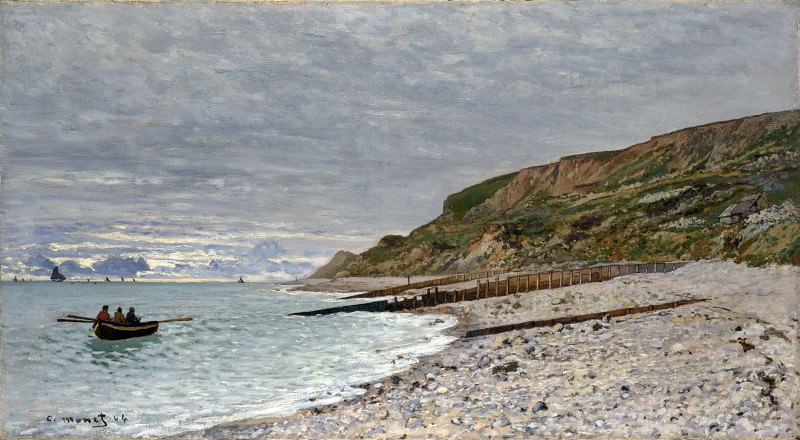 Claude-Oscar Monet - La Pointe de la Heve, Sainte-Adresse. Part 2 National Gallery UK