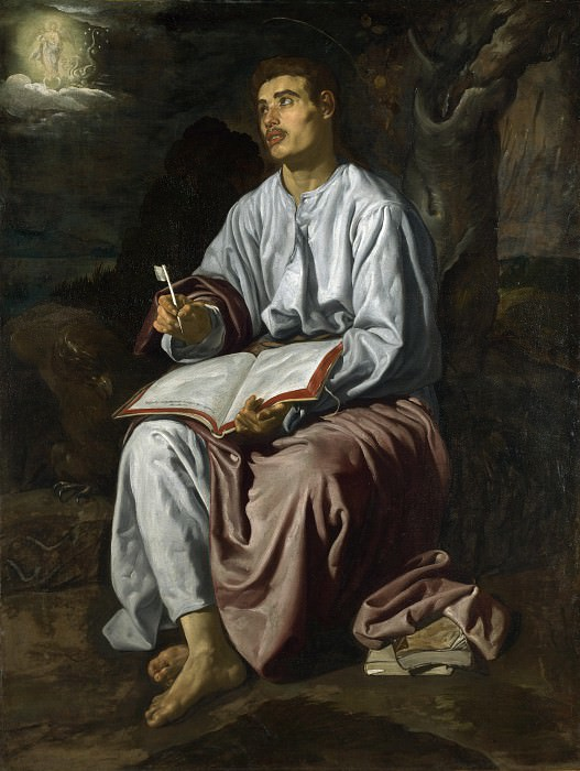 Saint John the Evangelist on the Island of Patmos. Diego Rodriguez De Silva y Velazquez
