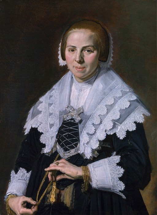 Frans Hals - Portrait of a Woman with a Fan. Part 2 National Gallery UK