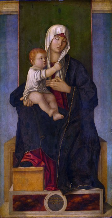 Francesco Tacconi - The Virgin and Child. Part 2 National Gallery UK