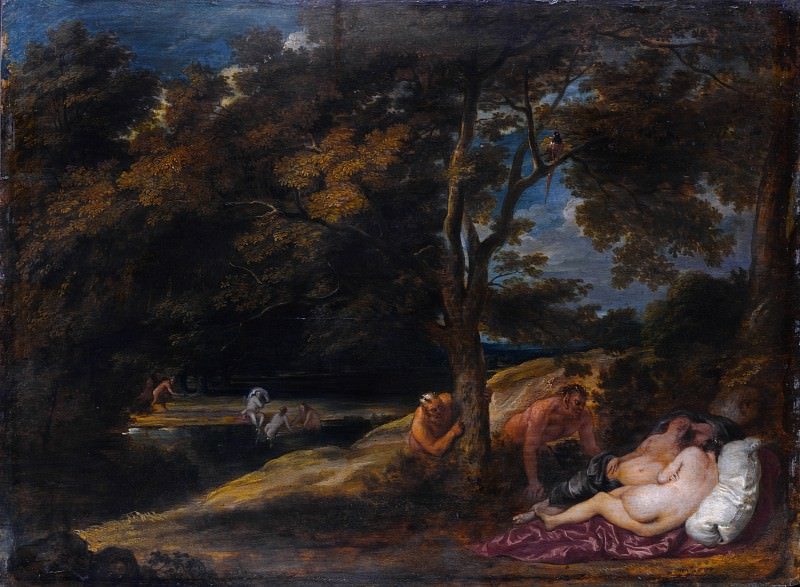 Franchoys Wouters - Nymphs surprised by Satyrs. Part 2 National Gallery UK