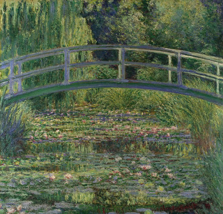 Claude-Oscar Monet - The Water-Lily Pond. Part 2 National Gallery UK