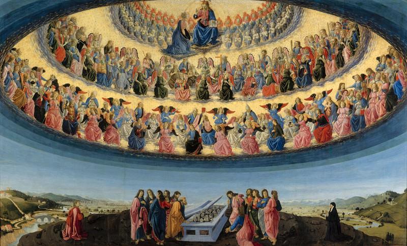 Francesco Botticini - The Assumption of the Virgin. Part 2 National Gallery UK