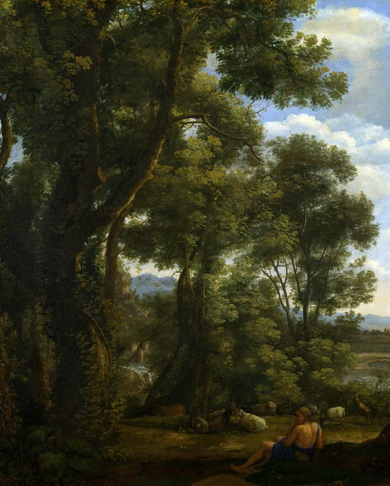 Claude - Landscape with a Goatherd and Goats. Part 2 National Gallery UK