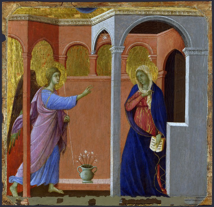 Duccio - The Annunciation. Part 2 National Gallery UK