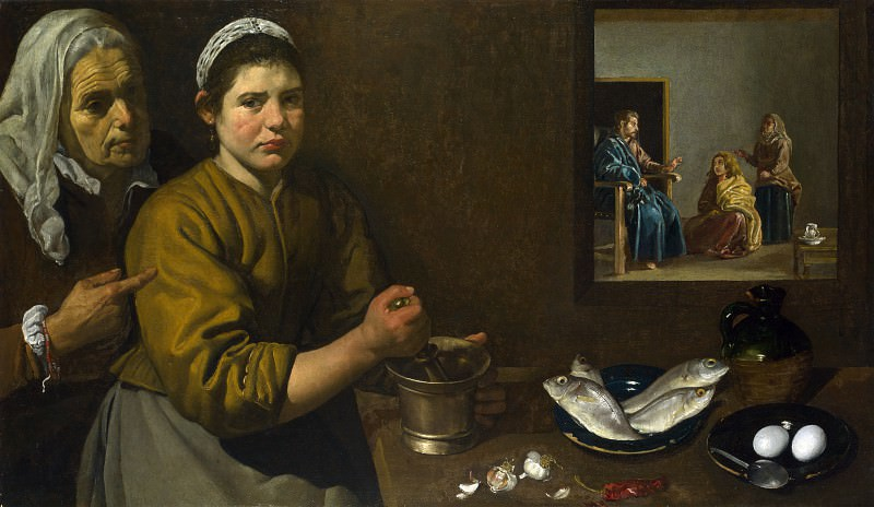 Diego Velazquez - Christ in the House of Martha and Mary. Part 2 National Gallery UK