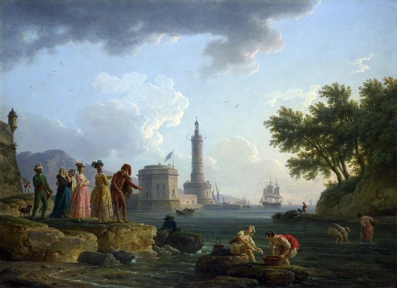 Claude-Joseph Vernet - A Sea-Shore. Part 2 National Gallery UK
