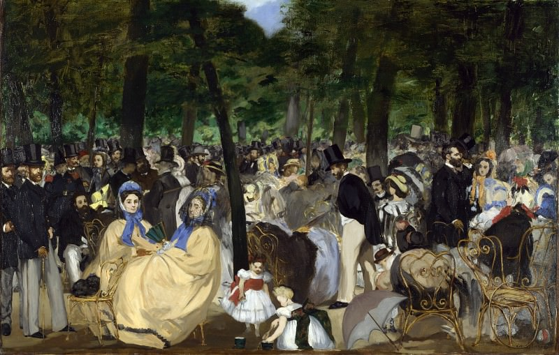 Music in the Tuileries Gardens. Édouard Manet