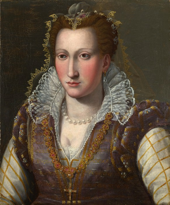 Follower of Bronzino - Portrait of a Lady. Part 2 National Gallery UK