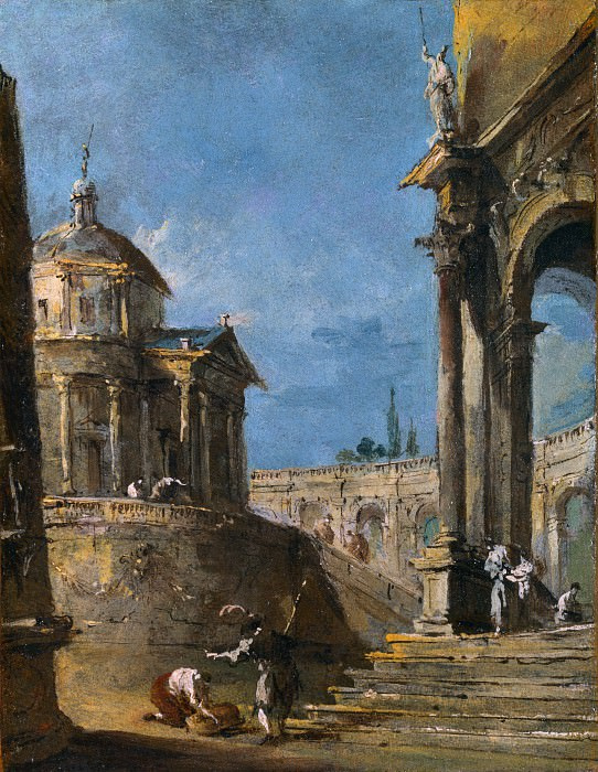 Francesco Guardi - An Architectural Caprice. Part 2 National Gallery UK