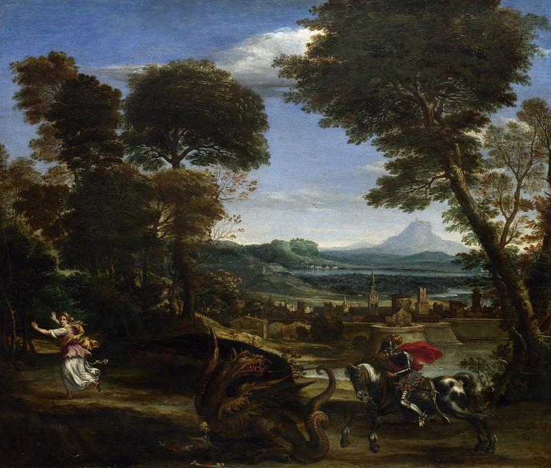 Domenichino - Saint George killing the Dragon. Part 2 National Gallery UK
