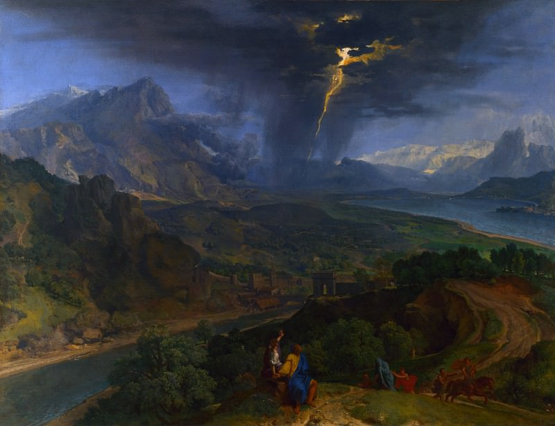 Francisque Millet - Mountain Landscape with Lightning. Part 2 National Gallery UK