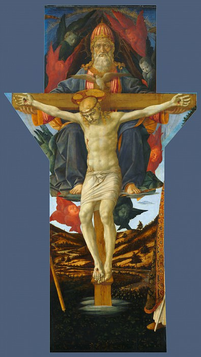 Francesco Pesellino and completed by Fra Filippo Lippi and workshop - The Trinity. Part 2 National Gallery UK