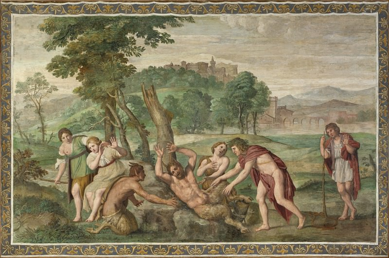 Domenichino and assistants - The Flaying of Marsyas. Part 2 National Gallery UK