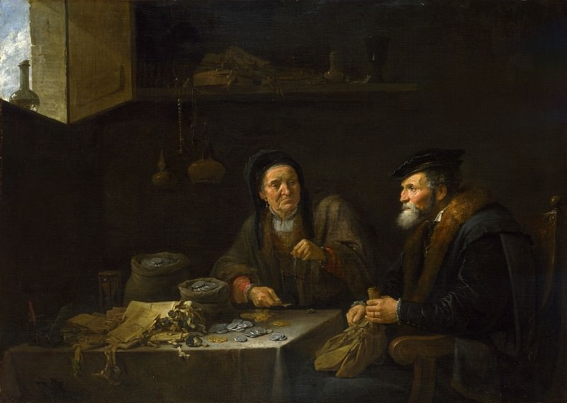 David Teniers the Younger - The Covetous Man. Part 2 National Gallery UK