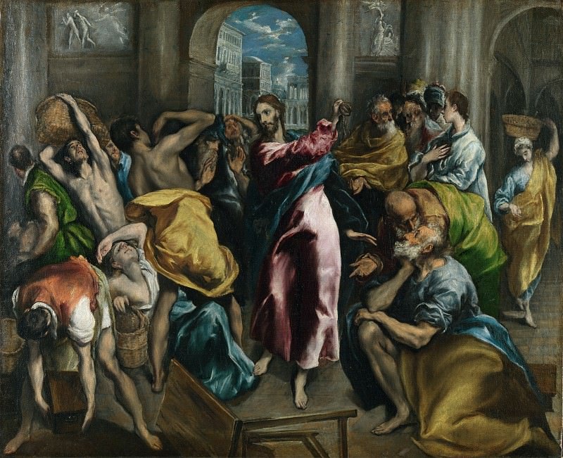 Christ driving the Traders from the Temple. El Greco