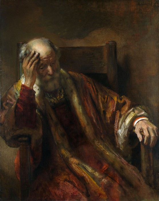 Follower of Rembrandt - An Old Man in an Armchair. Part 2 National Gallery UK