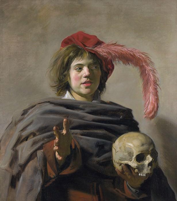 Frans Hals - Young Man holding a Skull (Vanitas). Part 2 National Gallery UK