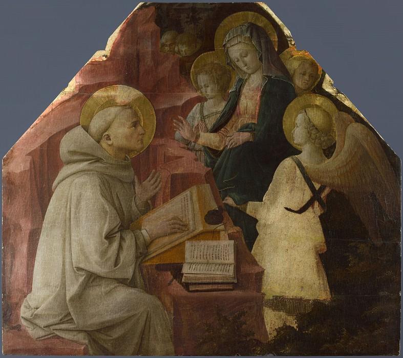 Фра Филиппо Липпи - Видение Девы Марии святому Бернарду. Часть 2 Национальная галерея