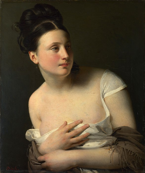 Claude-Marie Dubufe - The Surprise. Part 2 National Gallery UK