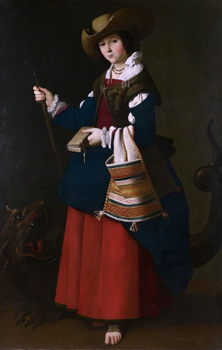 Francisco de Zurbaran - Saint Margaret of Antioch. Part 2 National Gallery UK