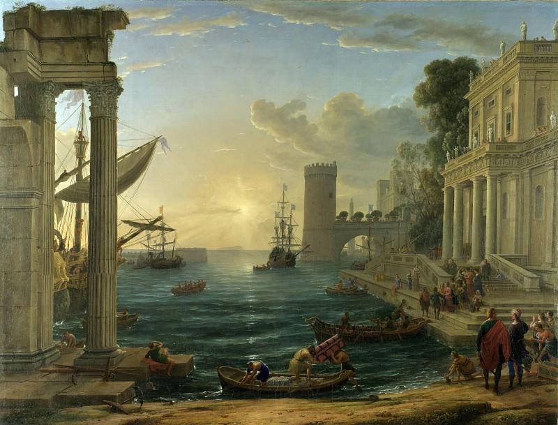 Claude - Seaport with the Embarkation of the Queen of Sheba. Part 2 National Gallery UK